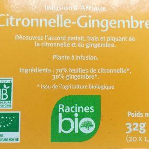 Citronnelle Gingembre bio