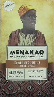 chocolat lait de coco vanille