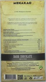 chocolat noir de Madagascar 80%
