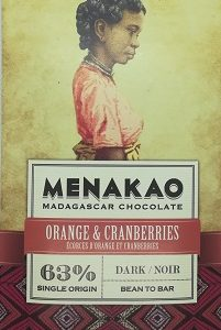 Chocolat noir orange et cranberry (grande)