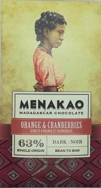 Chocolat noir orange et cranberry (grande)