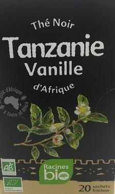 Thé Noir d'Afrique Tanzanie Vanille bio